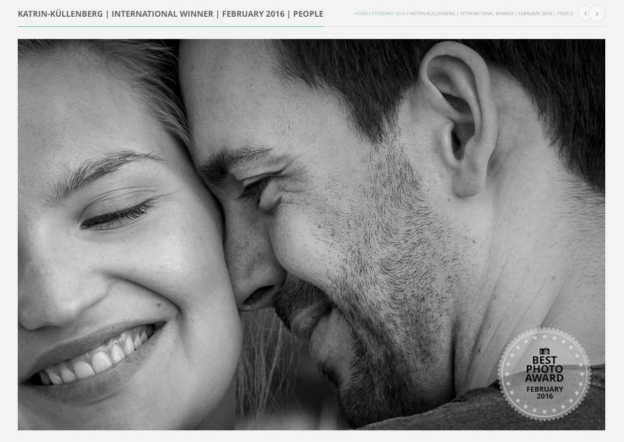 Internationale Preisträgerin der Paarfotografie und Engagementshooting