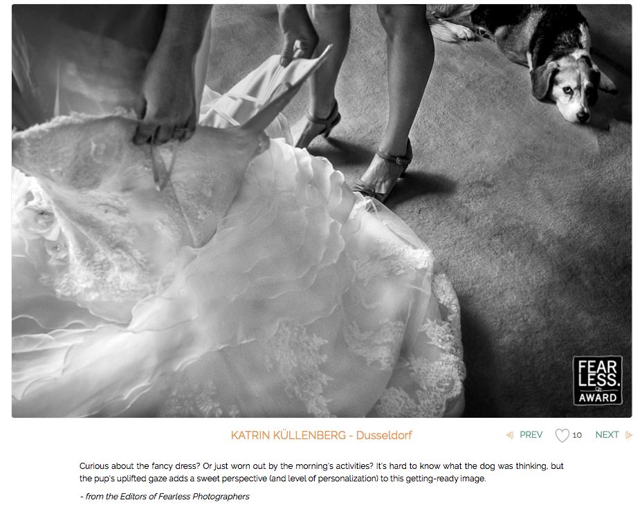 Beste deutsche Hochzeitsfotografin mit vier Fearless Awards