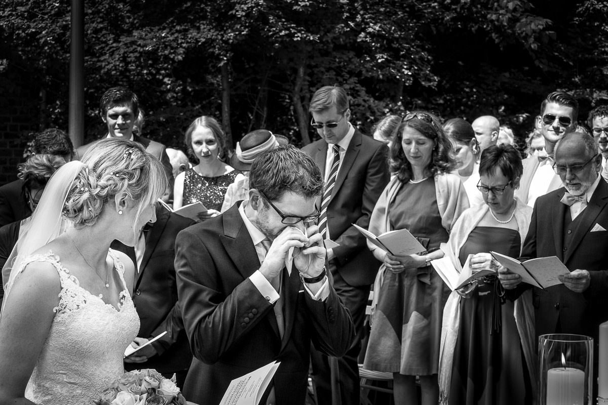 Schwarzweiße Hochzeitsfotos Düsseldorf