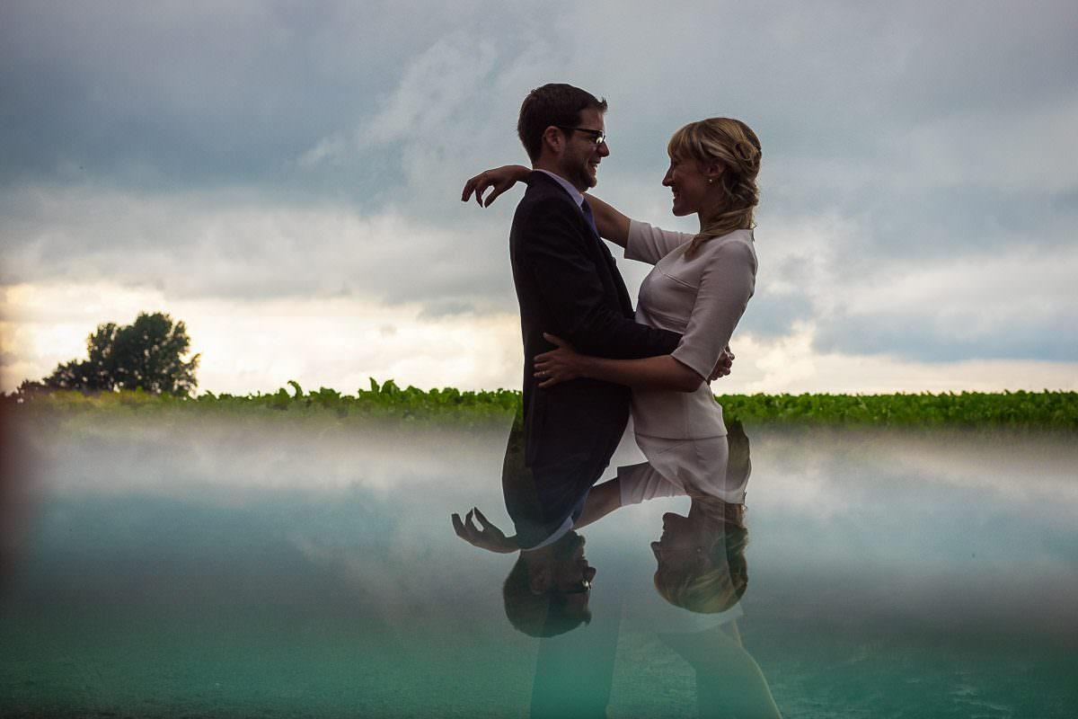 Hochzeitsfotos auf Feld Düsseldorf