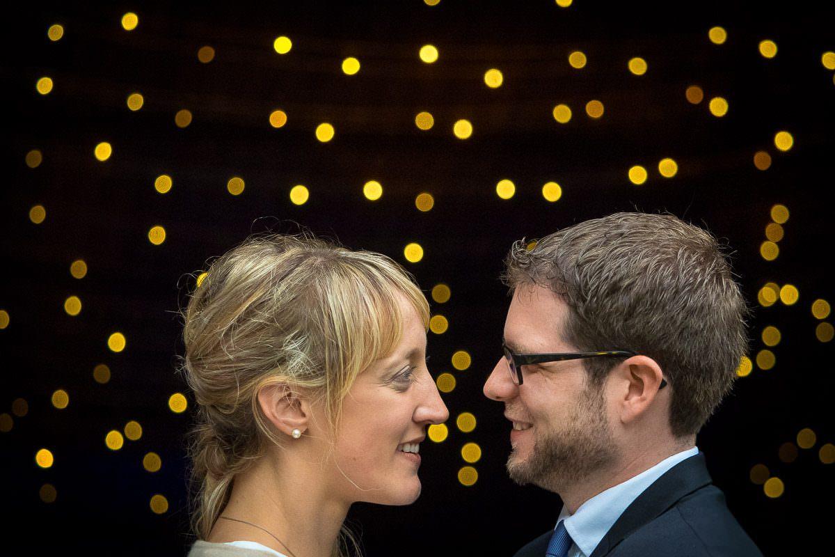 Brautpaarshooting mit Lichtereffekt