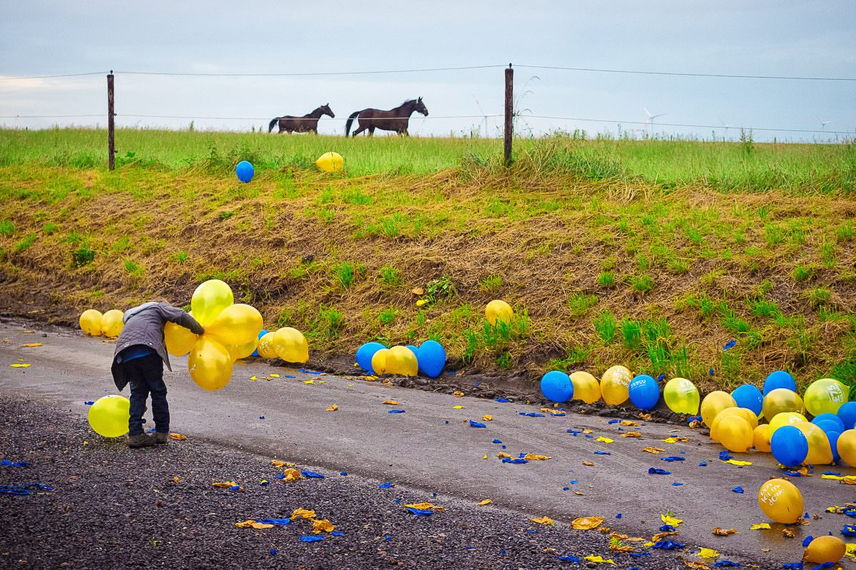 Hochzeitsfotos auf Bauernhof