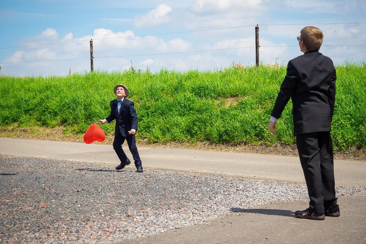 Herzluftballons für Hochzeit