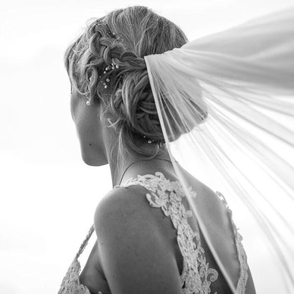 Brautporträt mit Schleier