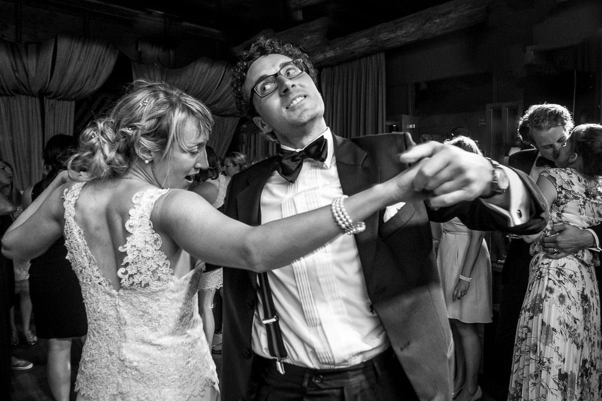 Hochzeitsparty schwarzweiss Fotos