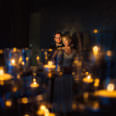 Hochzeitsfoto mit Kerzen