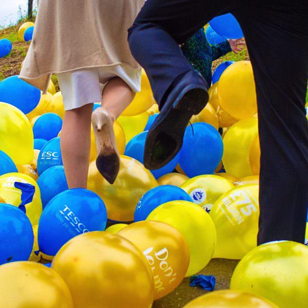 Luftballons bei Hochzeit