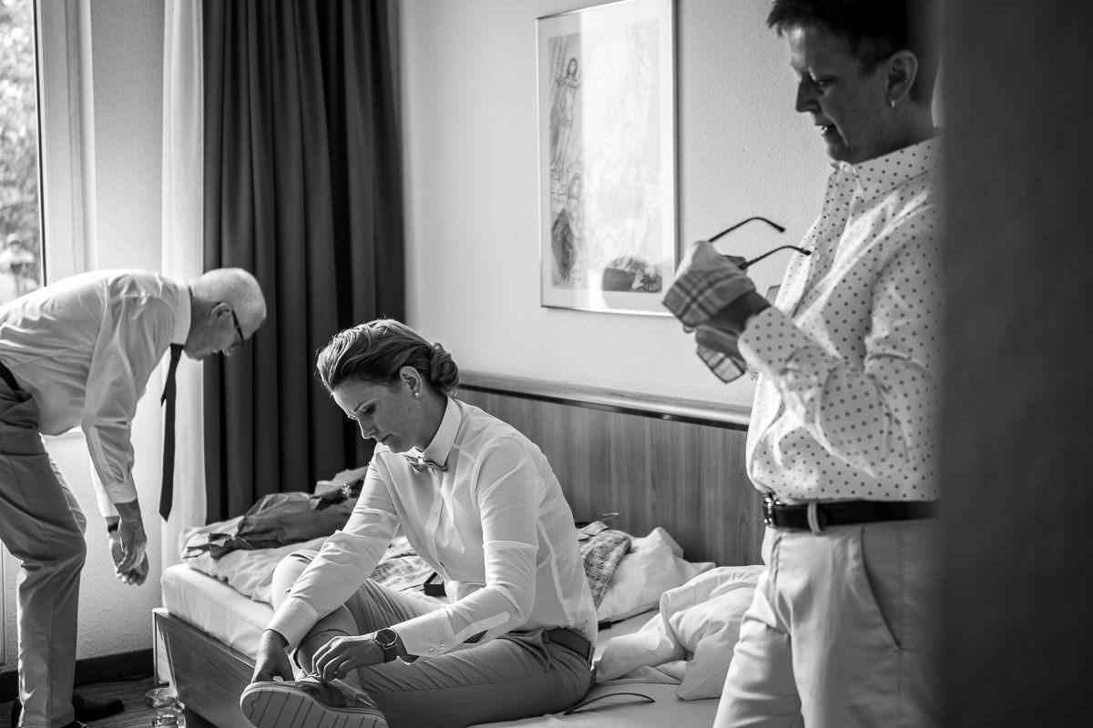 Getting ready gleichgeschlechtliche Hochzeit