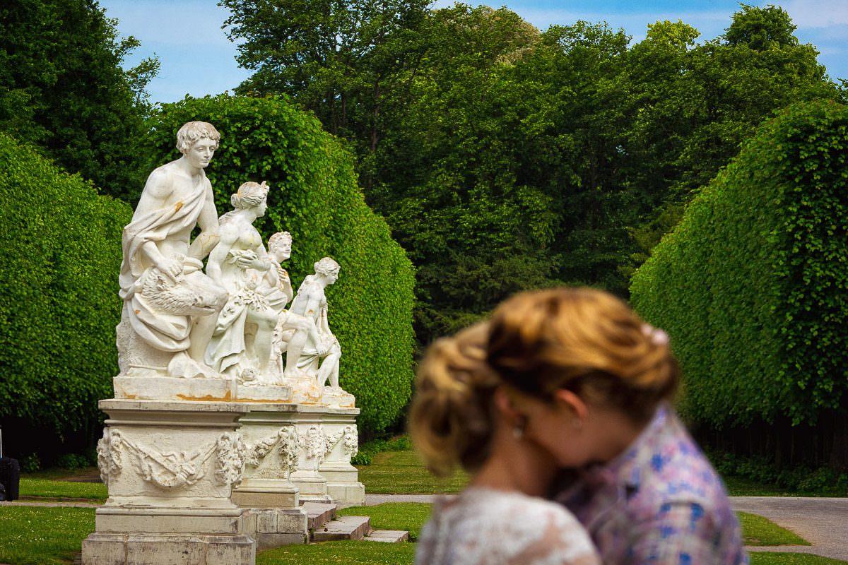 Brautpaarfotos Schloss Benrath