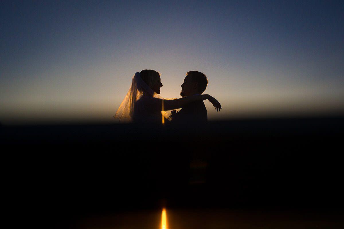 Hochzeitsfotos blaue Stunde