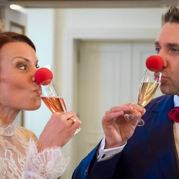 Red Nose Hochzeitspaar