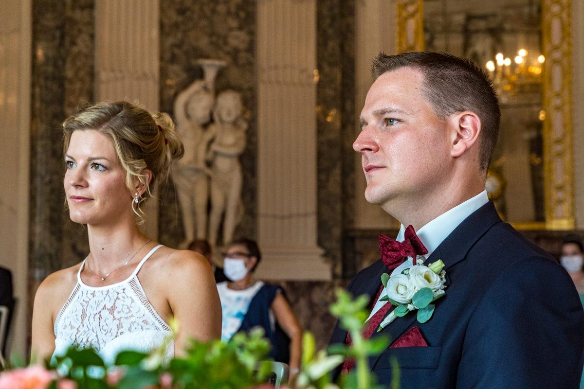 Heiraten auf Schloss Benrath mit Hochzeitsfotografin Duesseldorf