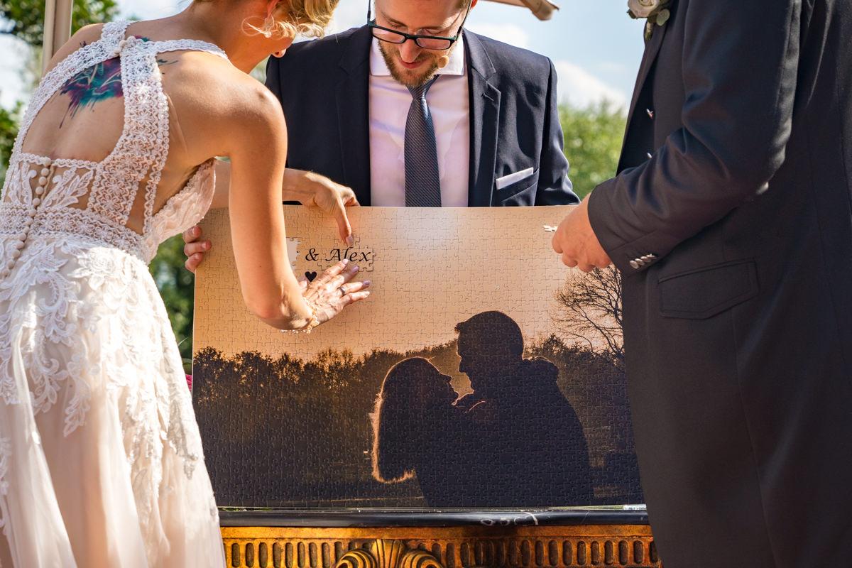 Fotopuzzle zur Hochzeit