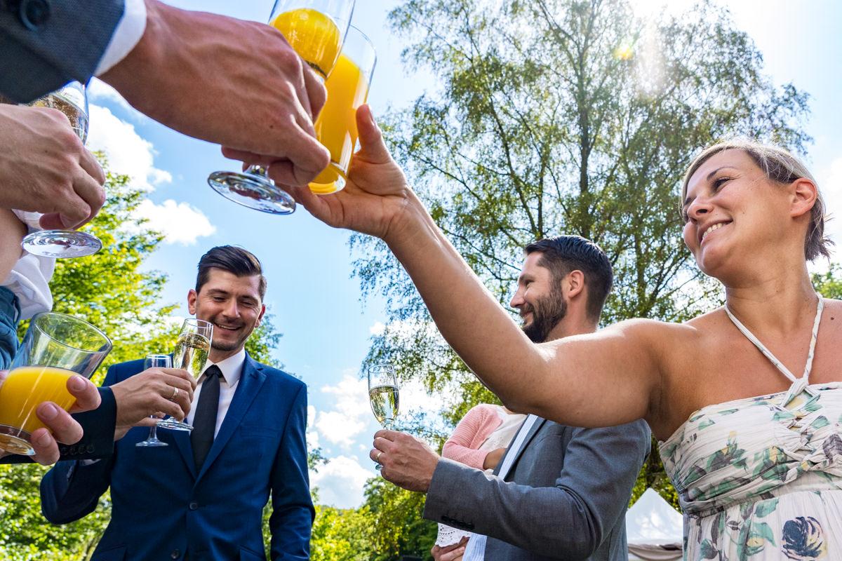 Hochzeitsempfang bei freier Trauung Solingen mit Hochzeitsfotograf Solingen