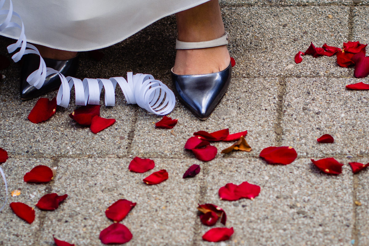 Brautschuhe Marc Jacobs bei Hochzeit Standesamt Solingen