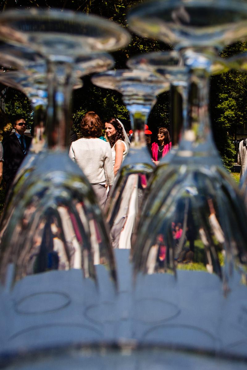 Hochzeitsempfang vor Standesamt Solingen Haus Kirschheide mit Hochzeitsfotograf Solingen