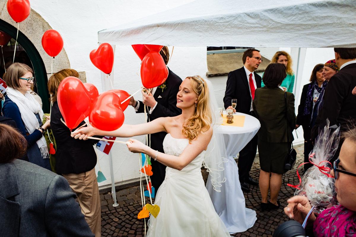 Luftballons bei Hochzeit Solingen